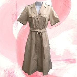 Brooks Brothers Tan shirtdress wrap